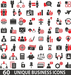 IconsBusinessRed vector image vector image