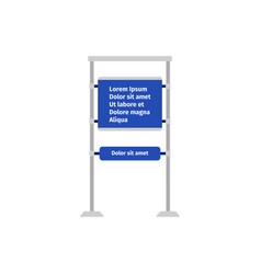 road information sign vector image