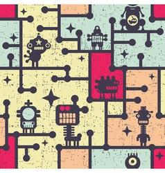 robot wallpaper vector image vector image