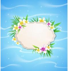 Summer blue marine background vector image