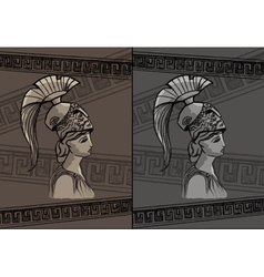 Athena drawing set vector image