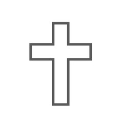 catholic cross icon simple vector image