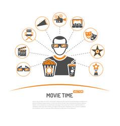 Cinema and movie concept vector