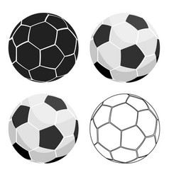 football icon cartoon single sport icon from the vector image