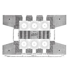 furnace vintage vector image vector image