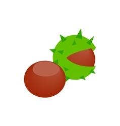 Hazelnuts icon isometric 3d style vector image vector image