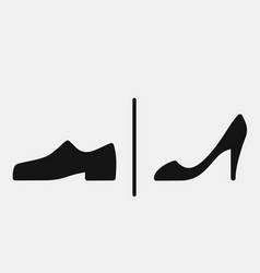 men and women shoes icons vector image vector image