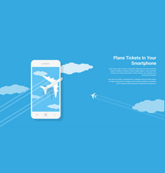 mobile tickets service vector image