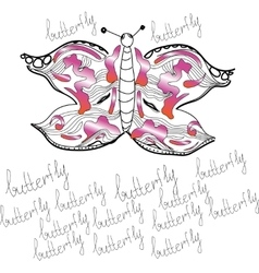 ornamental butterfly vector image vector image