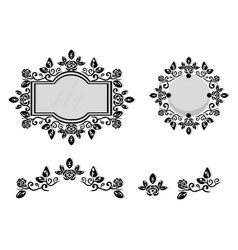 ornamented mirror or photo frame vector image