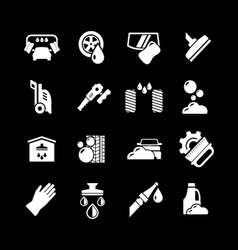 Set icons of car wash vector image