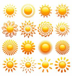suns elements vector image vector image