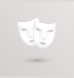 Theater icon masks vector image vector image