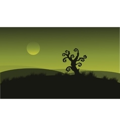 Dry tree at Halloween backgrounds vector image