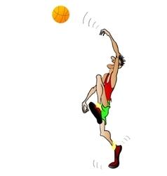 image - basketball player silhouette vector image