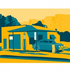 old gas station vector image vector image