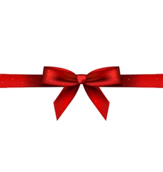 red shiny bow vector image