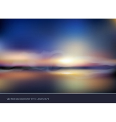 seascape with sunset vector image