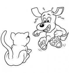 terrified dog vector image vector image