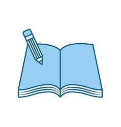 text book school with pencil vector image