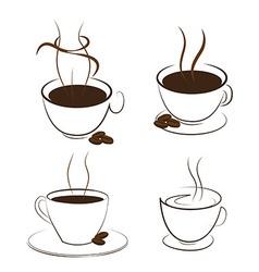 coffee and smoke vector image vector image
