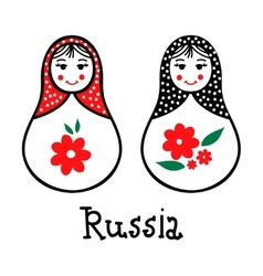 Russian traditional wooden toys babushka vector image