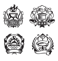 Set of different cooking banners vector