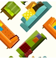 sofa in flat seamless vector image vector image