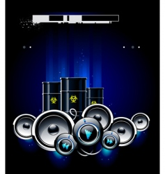 speakers barrels vector image