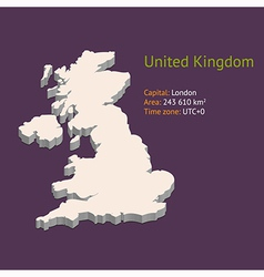 3d map uk vector