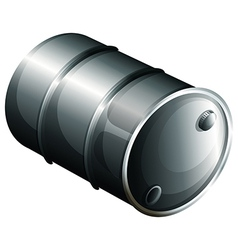 A gray oil barrel vector image