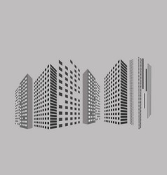 abstract panorama building on street in city vector image