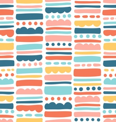 Abstract pattern with stripes and dots vector