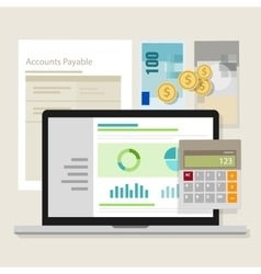 Account payable accounting software money vector