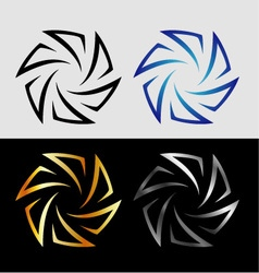 Aperture in different colors vector