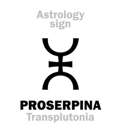 Astrology supreme planet proserpina vector