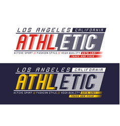 Athletic los angeles typography design vector