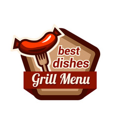 barbecue grill on white vector image
