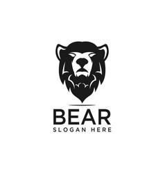 Bear head logo design template vector
