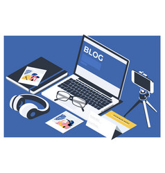 blog blogging homepage social media network vector image