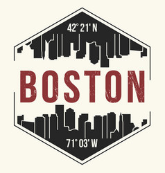 Boston city graphic t-shirt design tee print vector