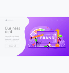 brand identity landing page template vector image
