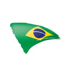 brazil flag on a white vector image
