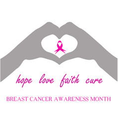 Breast cancer awareness campaign- join fight vector