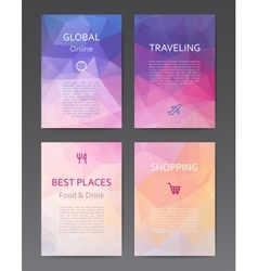 Brochure design templates vector