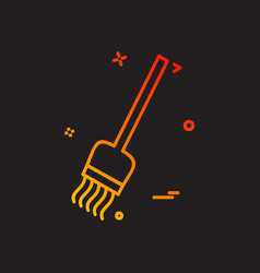 broom icon design vector image