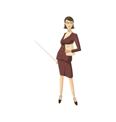 Businesswoman icon cartoon style vector image