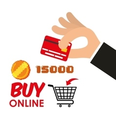 Buy online games shop credit card coin score vector