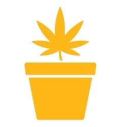 Cannabis Pot Icon vector