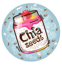 chia seeds vector image